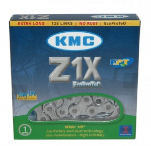 Kette KMC Z1X EPT EcoProteQ Anti-Rost 1/2 x 1/8, 128 Glieder, 8,6mm, LongLife