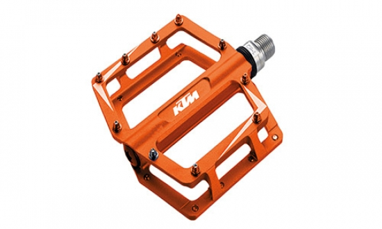 KTM Pedale Freeride BMX Alu o orange, 105,5x100x27mm