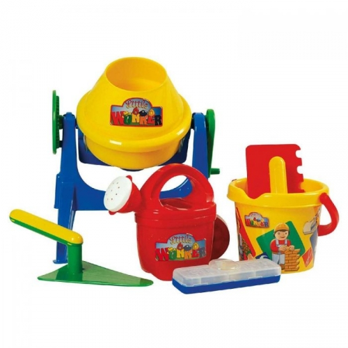 Sandbau Set Little Worker in Tasche 7 tlg.
