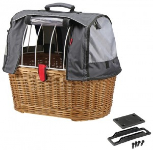 Hundeshopper KLICKfix Doggy Basket Plus braun,  45x52x36 cm, GTA